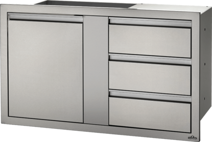 "Picture of 42"" X 24"" LARGE SINGLE DOOR & TRIPLE DRAWER"